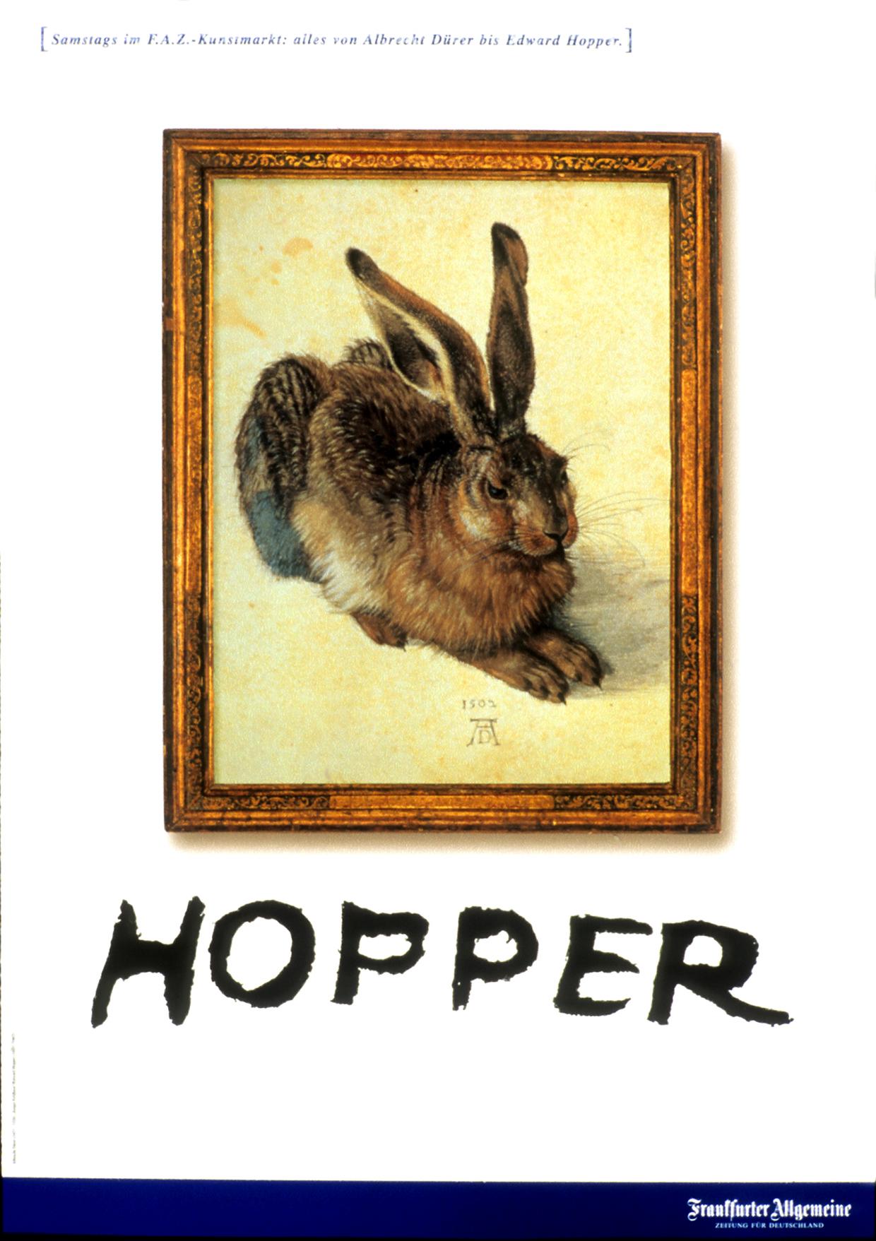 2 Edward Hopper Frankfurter Allgemeine Zeitung FAZ Scholz & Friends Edward Hopper Albrecht Dürer