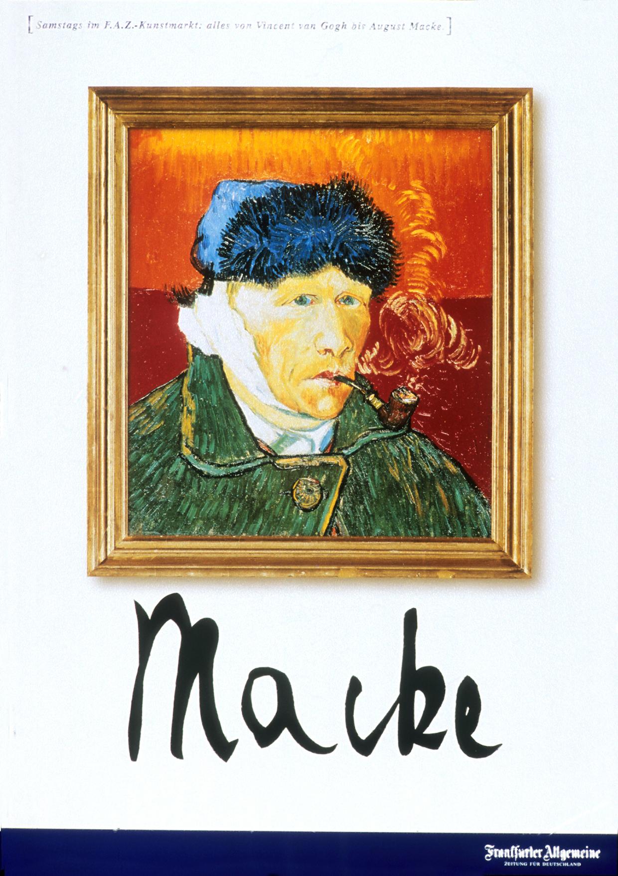 3 August Macke Frankfurter Allgemeine Zeitung FAZ Scholz & Friends Berlin Van Gogh