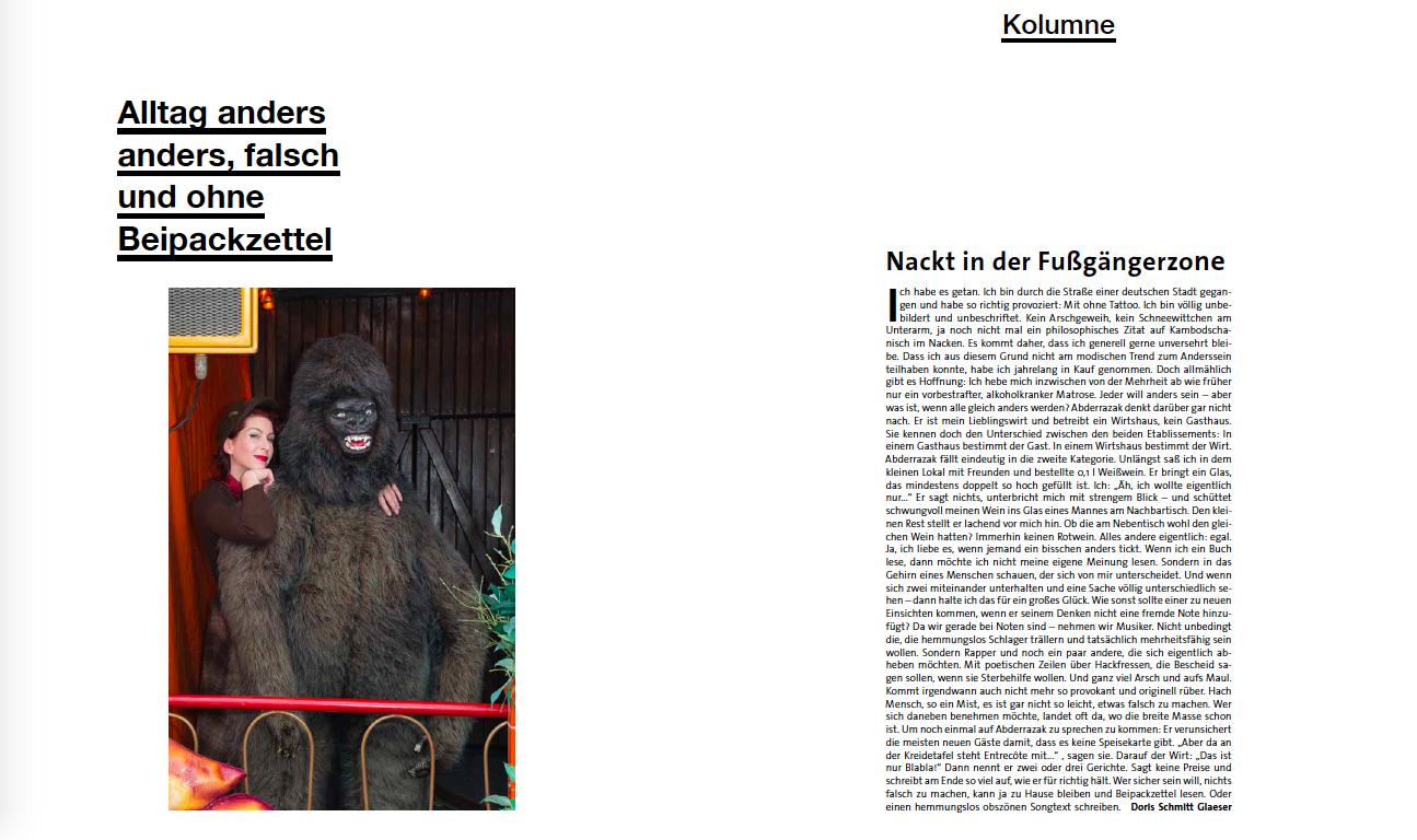 freistil Rolf Benz Kolumne von Doris Schmitt Glaeser über Schlafen
